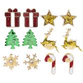 Assorted Enamel Christmas Earrings
