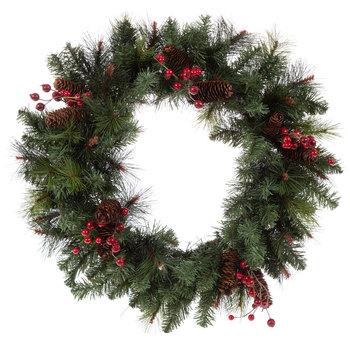 Pine Wreath With Pinecones & Berries