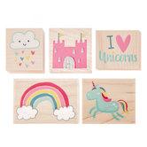 Unicorn Kingdom Rubber Stamps