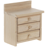 Miniature Wood Cabinet With Drawers