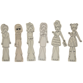 Girls In Outfits Wood Shapes