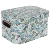 Green & Blue Leaf Rounded Rectangle Box
