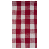 Red & White Buffalo Check Cloth Napkin