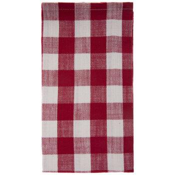 Red & White Buffalo Check Cloth Napkin
