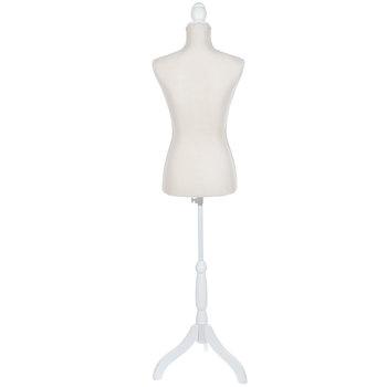 Beige Dress Form & Stand