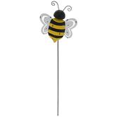Bee Metal Garden Pick