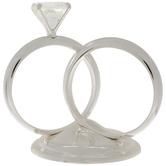 Silver Diamond Ring Cake Topper