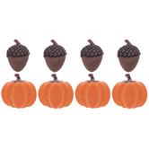 Pumpkin & Acorn Flatbacks
