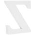 White Wood Letter Z - 3
