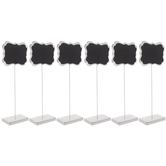 White Ornate Wood Chalkboard Stands