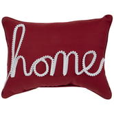 Red & White Home Pillow