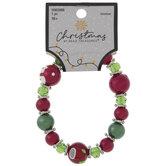 Red & Green Beaded Bracelet