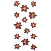 Glitter Poinsettia Stickers