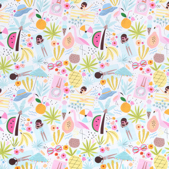 Beach Time Besties Apparel Fabric