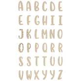 Gold Quilted Alphabet Stickers
