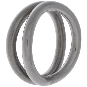 Silver Double Looped Metal Napkin Ring