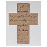 Numbers 6:24-26 Wood Wall Cross
