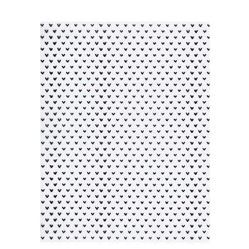 "Black Sketched Hearts Vellum Paper - 8 1/2"" x 11"""