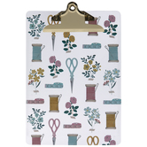 Floral Sewing Notions Clipboard