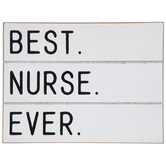 Best Nurse Ever Wood Decor
