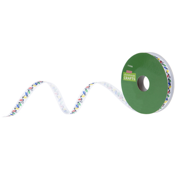 Christmas Lights Single-Face Satin Ribbon - 3/8""