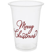 Red Foil Merry Christmas Cups