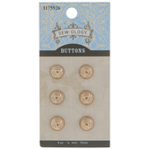 Gold Knot Round Shank Buttons - 10mm