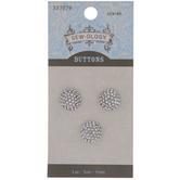 Round Rhinestone Shank Buttons - 11mm