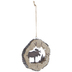 Moose Log Ornament