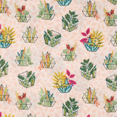 Boho Terrarium Apparel Fabric