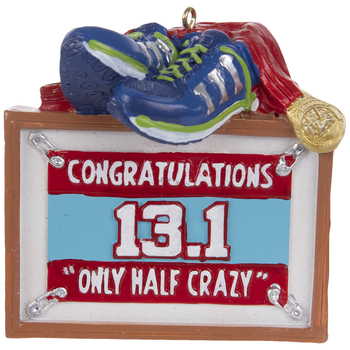 Half Marathon Half Crazy Ornament