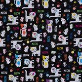 Meow Cats Cotton Calico Fabric