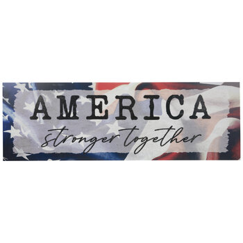 America Stronger Together Wood Wall Decor