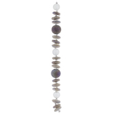 Gray & White AB Textured Glass Bead Strand