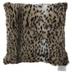 Cheetah Print Faux Fur Pillow