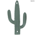 Distressed Green Cactus Double Metal Wall Hook