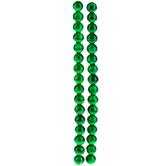 Tonal Green Splatter Bead Strands