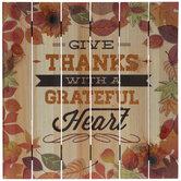 Give Thanks Wood Wall Decor