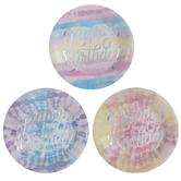Happy Birthday Tie Dye Paper Plates - Small