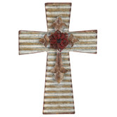 Galvanized Layered Metal Wall Cross