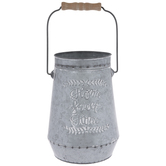 Home Sweet Home Galvanized Metal Container