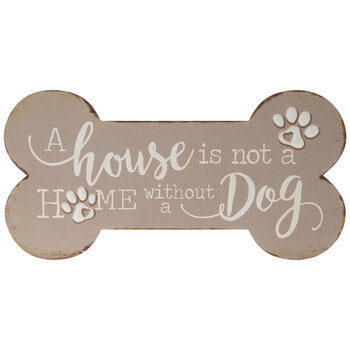 Without A Dog Metal Wall Decor