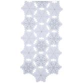 Aspen Bark Snowflake Table Runner