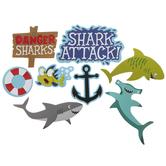 Shark Foam Stickers