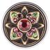 Stone Flower Mini Snap Charm - 12mm