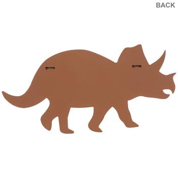 Orange Triceratops Wood Wall Decor