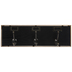 Black & Gold Wall Decor With Hooks