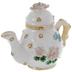 White Floral Tea Pot Jewelry Box