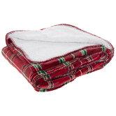 Red Plaid Throw Blanket