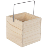Square Wood Box With Handle